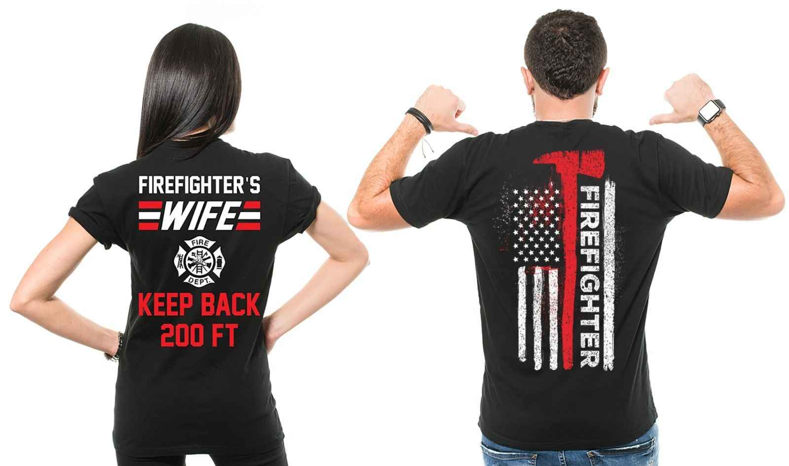 465be5694f Detail Feedback Questions about 2019 Fashion Hot sale 100% cotton  Firefighter Couple T Shirts Husband And Wife Cool Matching T shirts Gift ideas  Tee shirt ...