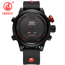 New Fashion OHSEN Brand Led Digital Men Watch Analog Quartz Watch Sports Watches Men Waterproof Relogio Masculino Casual Watches цена