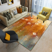 Modern Home Carpet Living Room Bedroom Decorative Rug Rectangle 3D Printed Sofa Coffee Table Area Anti-Slip Floor Mat