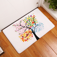 New Anti-Slip Carpets Cartoon Color Tree Print Mats Bathroom Floor Kitchen Rugs 40x60or50x80cm