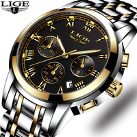 LIGE Mens Watches Top Brand Luxury Male Military Sport Luminous Watch Men Business Quartz Watch Male