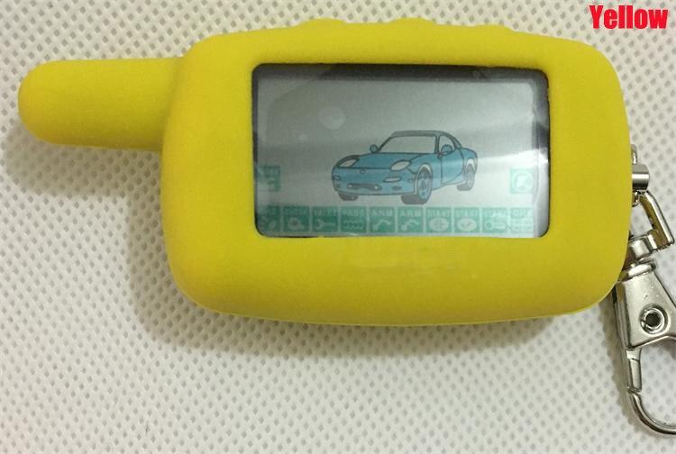 A9 2-way LCD Touche De La Télécommande Fob Chaîne Porte-clés + Silicone Key Case Pour Russe à Deux Voies Système D'alarme De Voiture Starline A9
