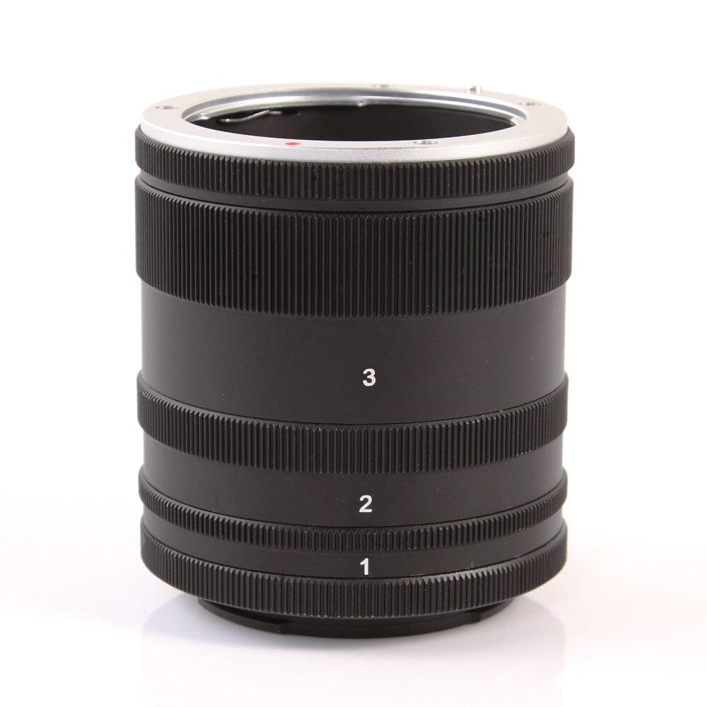 Lente de tubo de extensión Macro adaptador anillo para Sony E montaje NEX Cámara lente A7 A7R S A5100 A6000