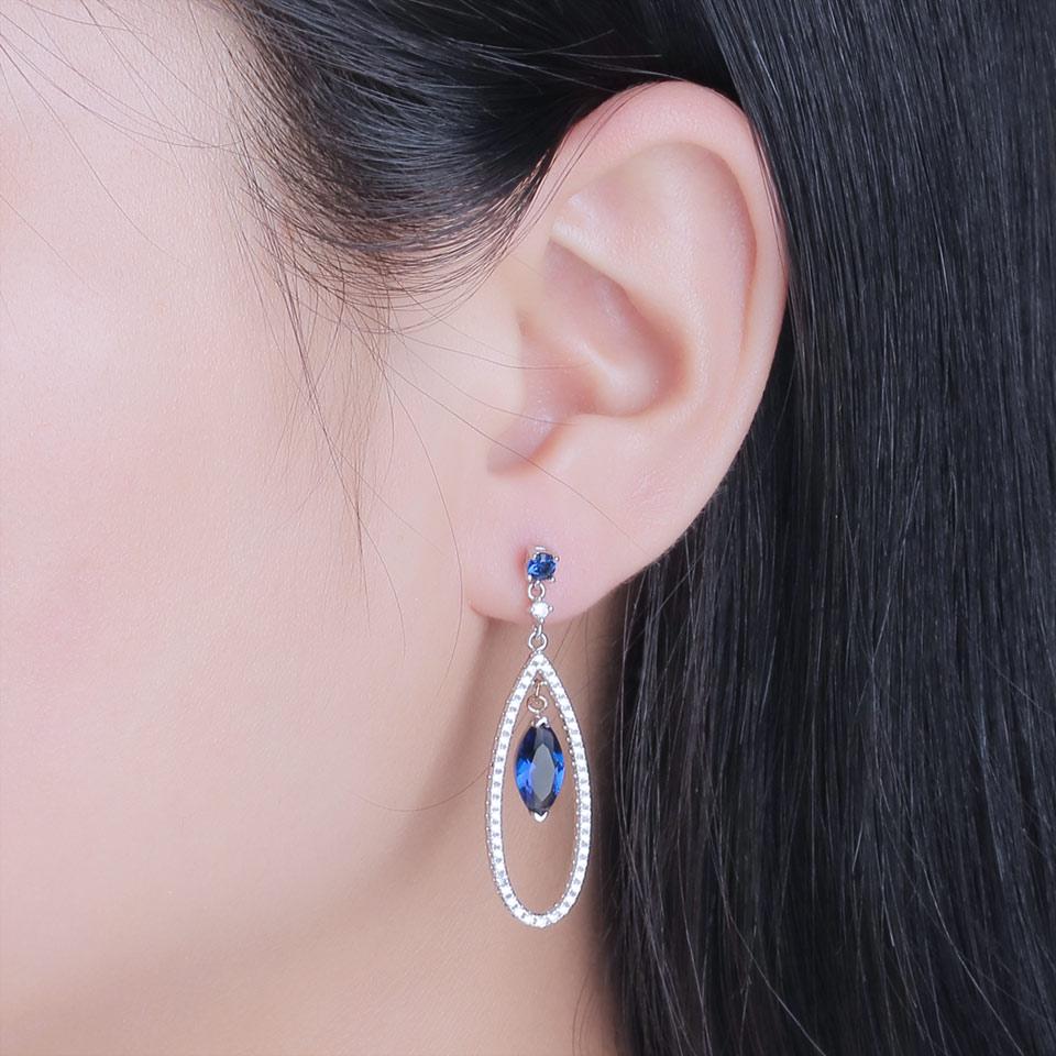 Honyy-925 sterling silver earrings for women EUJ064S-1 (8)