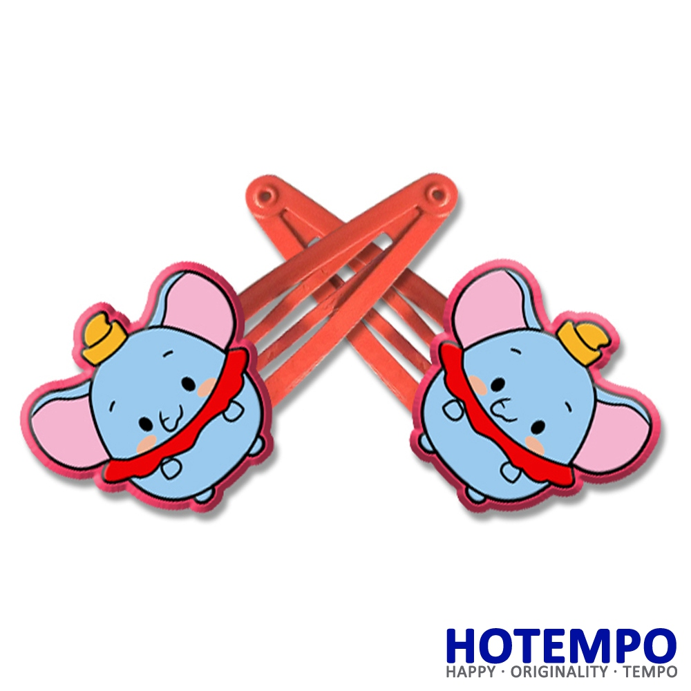 Cute Tsum Cartoon Dumbo Multicolor PVC Fly Elephant Action Figure beauty toy for girls Hair accessories gift Hair Clip