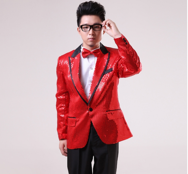 Popular Red and Gold Suit Jacket-Buy Cheap Red and Gold Suit ...