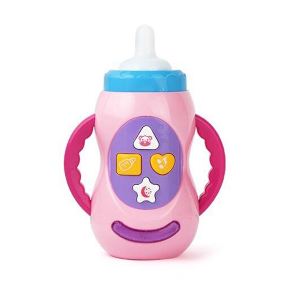 Baby Kids Safe Sound Music Light Milk Bottle Learning Musical Feeding Tool Early Educational Baby Bottle Toys For Baby Kids