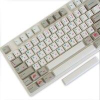 Enjoypbt клавиатура механическая клавиатура Горячая 117 keycaps японские keycaps Dye Subbed Keycap набор cmyw rgby