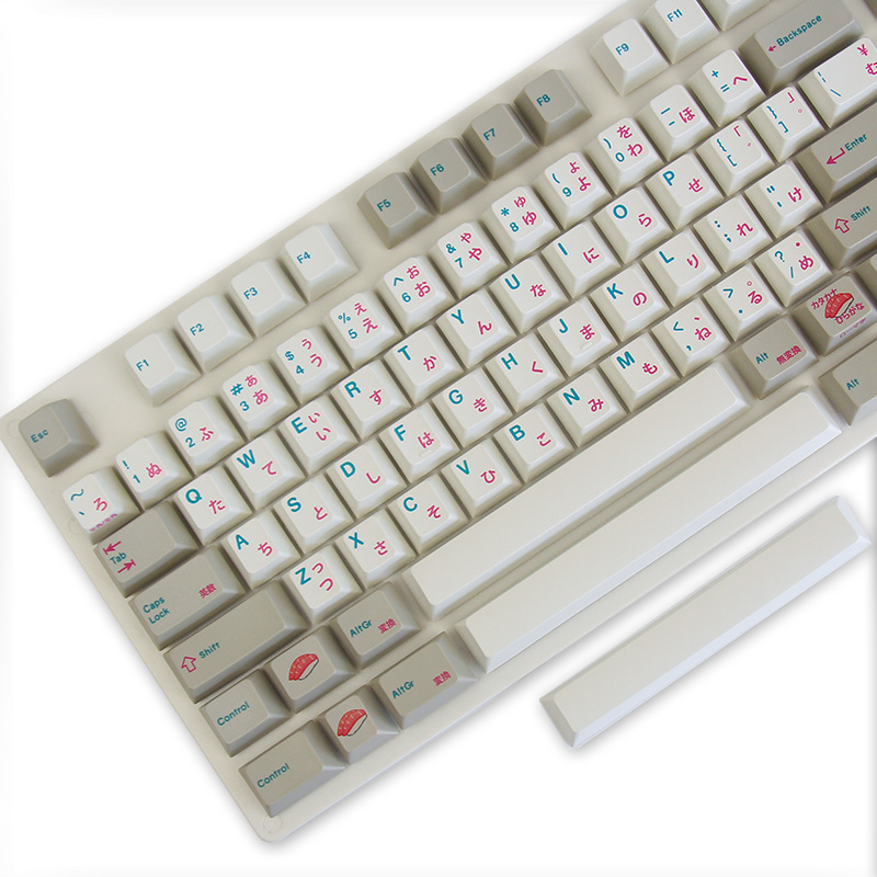 US $112 9 |Enjoypbt keyboard mechanical keyboard keyboarded hot 117 keycaps  Japanese keycaps Dye Subbed Keycap Set cmyw rgby-in Keyboards from