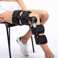 Hinged Knee Patella Brace Support Stabilizer Pad Belt Strap Orthosis Splint Wrap Compression Sleeve Immobilizer ROM