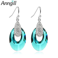 Fashion Luxury Crystals From Swarovski Drop Earrings For Women High Quality Earings Brincos Party Wedding Fashion Jewelry