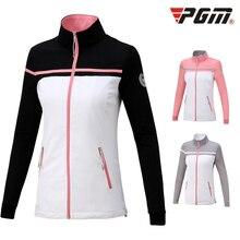 Pgm осень-зима гольф спортивная Для женщин спортивная куртка-ветровка с длинными рукавами дышащая Костюмы пальто D0505