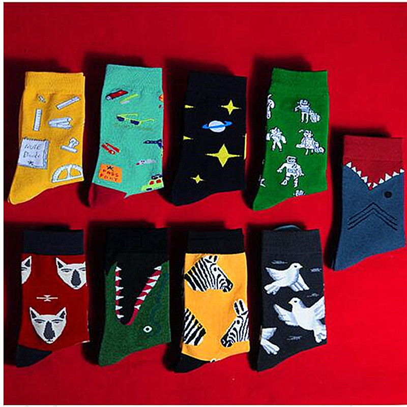 Street Fashion Harajuku Style Style Women's Socks Men's Cotton Hip Hop Socks Men's Meias Men's Skateboard Socks Calcetines