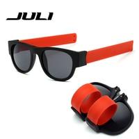 JULI Slap Mode lunettes de Soleil polarisées Creative Bracelet Slappable Lunettes Snap Bracelet Bandes Voyage lunettes de Soleil de conduite