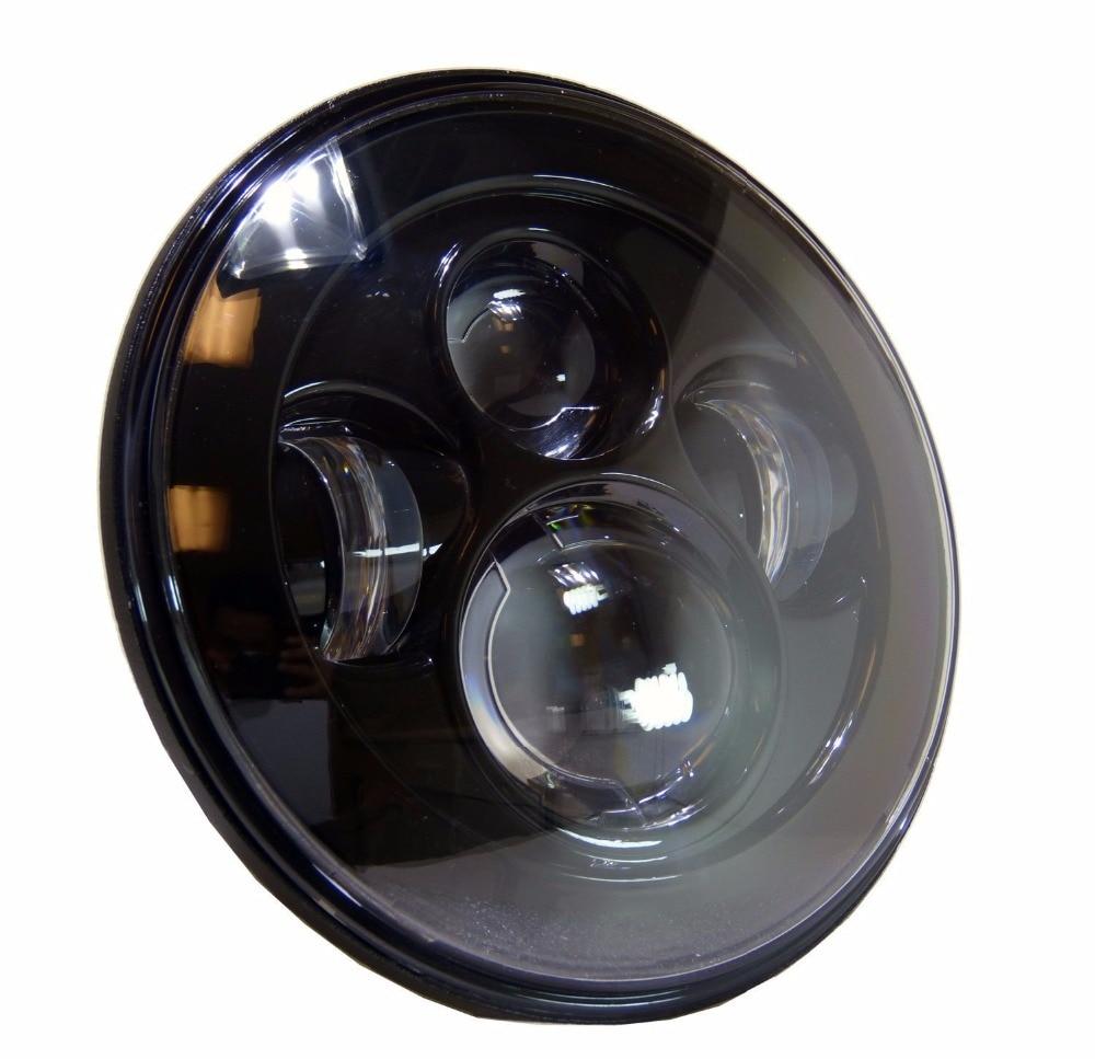 1 шт 7 дюймовым 40Вт круглая Черная/серебро из светодиодов фары высокие ближнего света проектор Daymaker для Harley