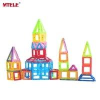 MTELE 브랜드 장난감 미니 자기 디자이너 110/130/158 개/몫 건설 빌딩 블록 장난감 DIY 3D 교육 벽돌