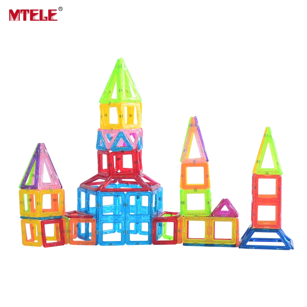 MTELE Brand Toy Mini Magnetic Designer 110 130 158 Pieces lot Construction Building Blocks Toys DIY