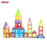 MTELE Brand Toy Mini Magnetic Designer 110 130 158 Pieces Lot Construction Building Blocks Toys DIY