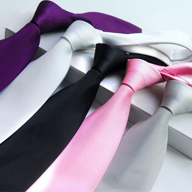 1Pc Slim Men Ties Solid Color Plain Silk Men Neck Skinny Tie Simplicity Longth 45 Cm Men For Party Formal Ties