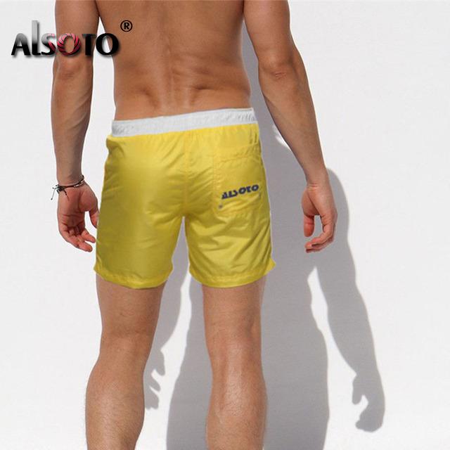2018 Summer Beach Shorts Swimsuit Men Sexy trunks sunga briefs mayo Board Swimwear badpak Maillot De Bain Boxer