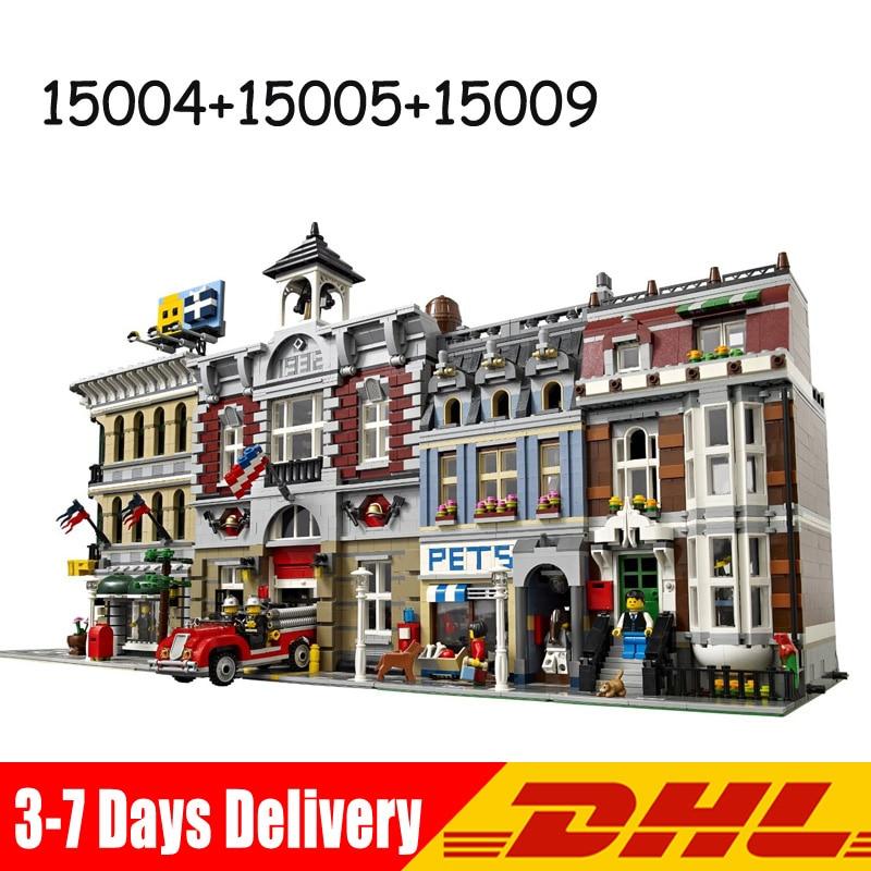 Lepin 15004 15009 15005 fire brigade pet shop grand emporium bricks blocks toys for children - Grand petshop ...