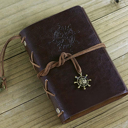 Retro Helm String Faux Leather Journal Travel Blank Diary A5 Loose-leaf Notebook 2016 newest vintage magic key string retro leather note book diary notebook leaf leather cover blank notebook journal diary