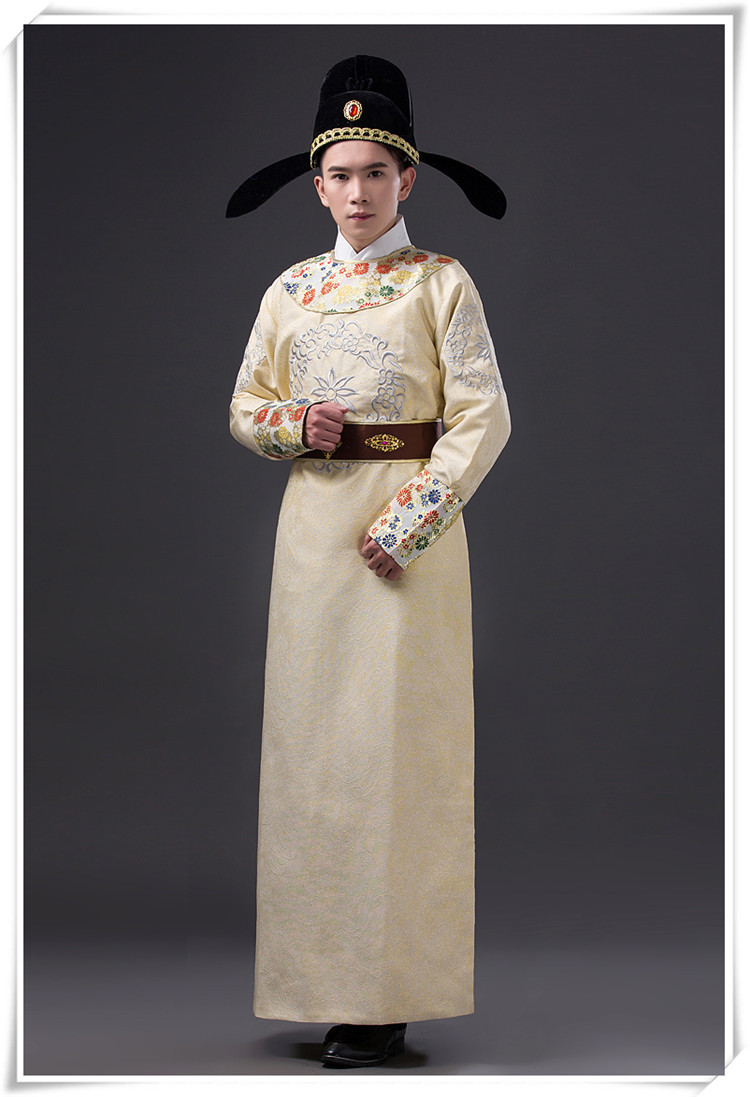6ab59a5ca7 4 Pcs Chinese Ancient Costume Set with Hat Di Renjie Movie Costume ...