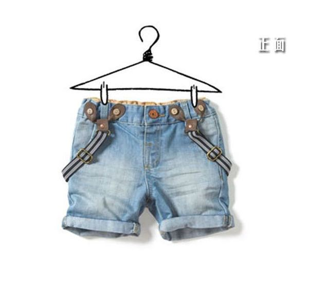 6b28cbe3f Children curling strap cowboys shorts baby boys and girls jeans overalls  2014 hot sale fashion summer