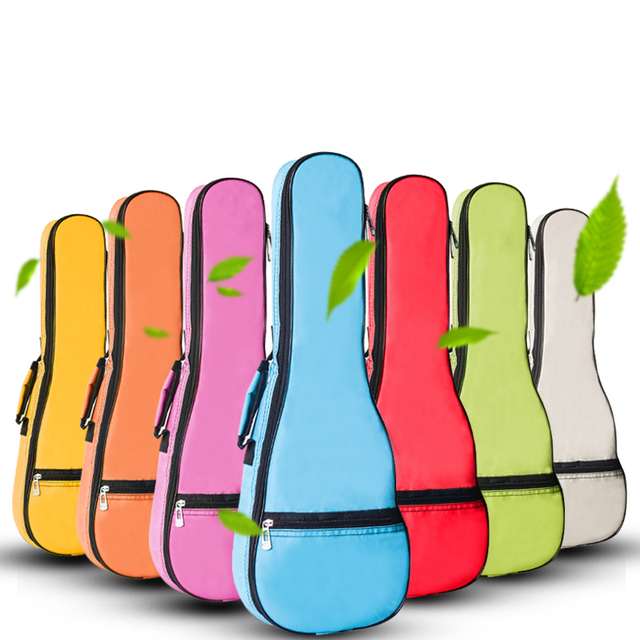 Ukulele Bag Case Backpack Shoulder Strap Oxford  Durable Washable Fashion UKULELE Gig Bag Case Large Size for 21 23 26 28 30inch