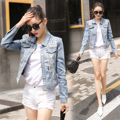 d2a741839d4 New women Fashion Sexy Short Denim jackets