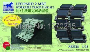 Bronco Model AB3528 1/35 Leopard 2 MBT Workable Track Link Set Plastic Model Kit