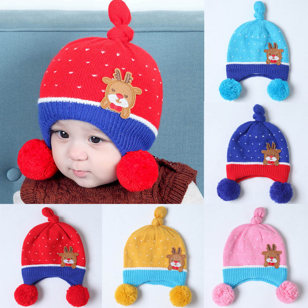 Baby Cap Spring Autumn Knitted Warm Cotton Beanie Baby touca infantil NewBorn Photography Props #20