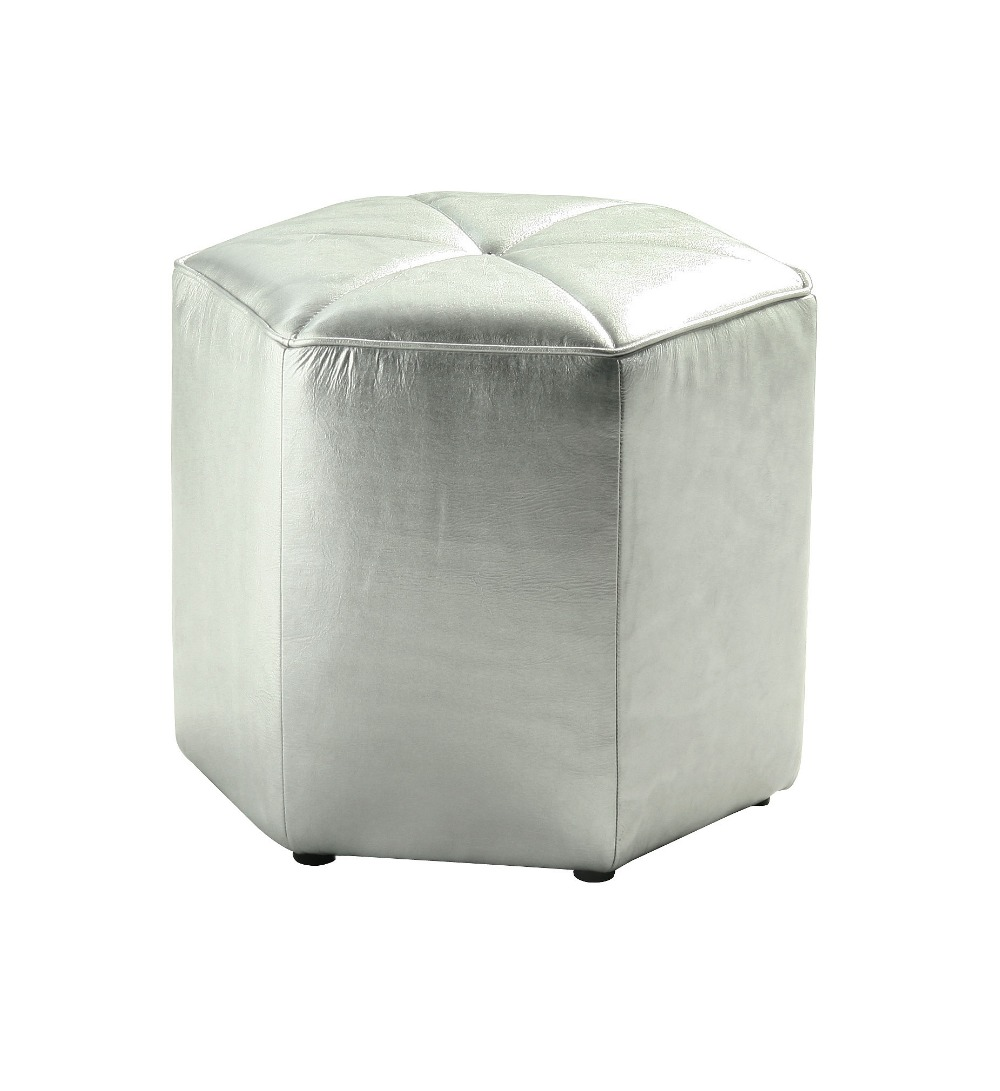 Post modern style furniture - Unique Designer Post Modern Style Top Graded Cow Real Leather Ottoman Stool Living Room Home