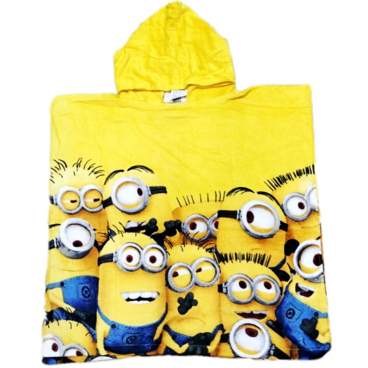 Despicable Me Minions Printed Cotton Hooded Towel