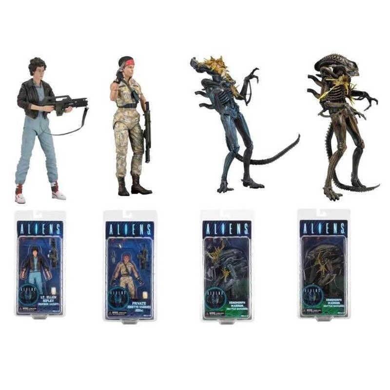 7 นิ้ว 18 ซม.NECA Aliens VS Predator ส่วนตัว LT.Ellen Ripley เสื้อ Xenomorph Warrior Battle Action FIGURE ของเล่น