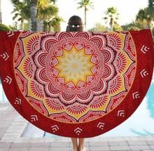 Indio hippie mandala tapiz colgante de pared flor de loto digital impreso boho bohemia playa toalla yoga mat manta colcha