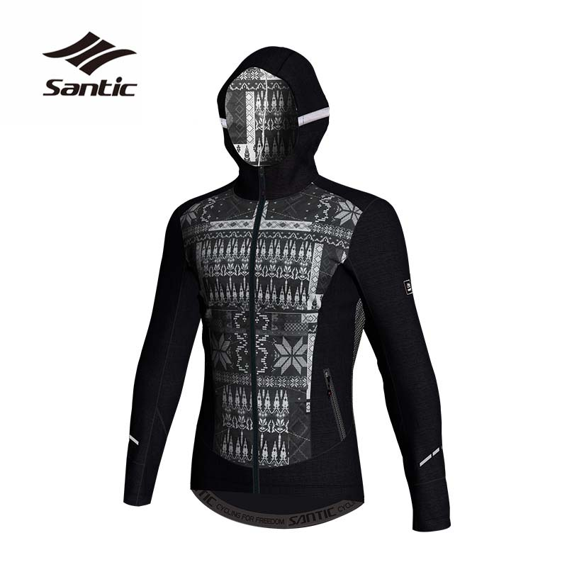 Santic Men Cycling Jacket Autumn Winter Thermal Mountain Bicycle Bike Jacket Windproof Downhill MTB Jacket Cycling Clothing 2018 santic mtb cycling pants bicycle bike downhill pants women trainers cycling tight pants l5c05058p