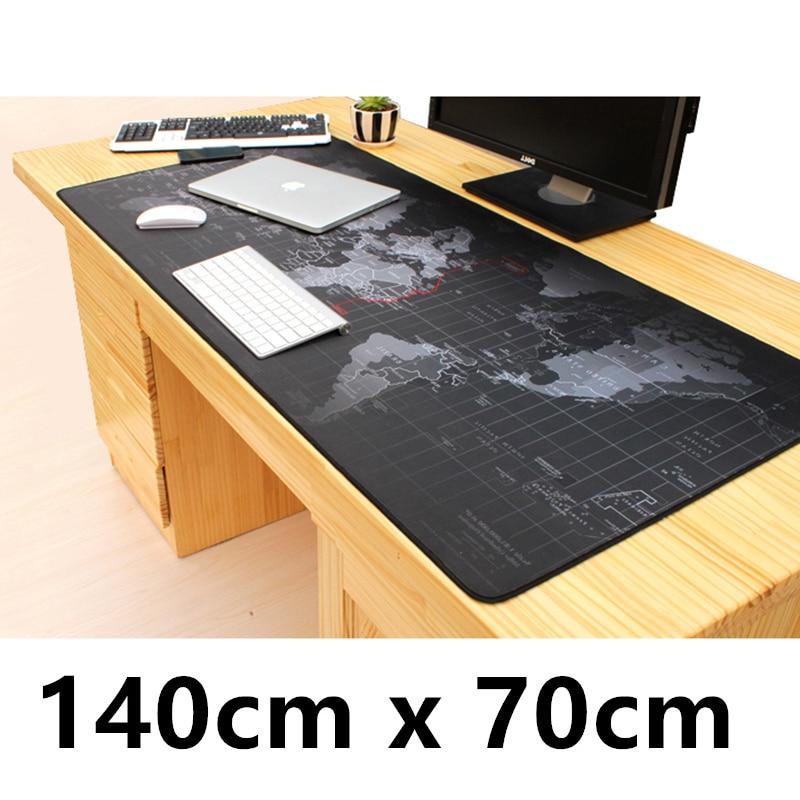 Carte du monde 140 cm x 70 cm Super grand tapis Mous pour grand bureau ordinateur portable tapis de jeu gamer tapis de souris de jeu