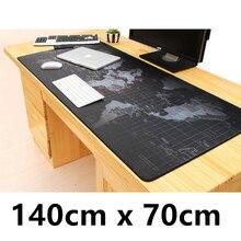 World map 140cm x 70cm Super Large  Mous pad  For  Big Desk Laptop Notebook mat  game gamer gaming Mousepad