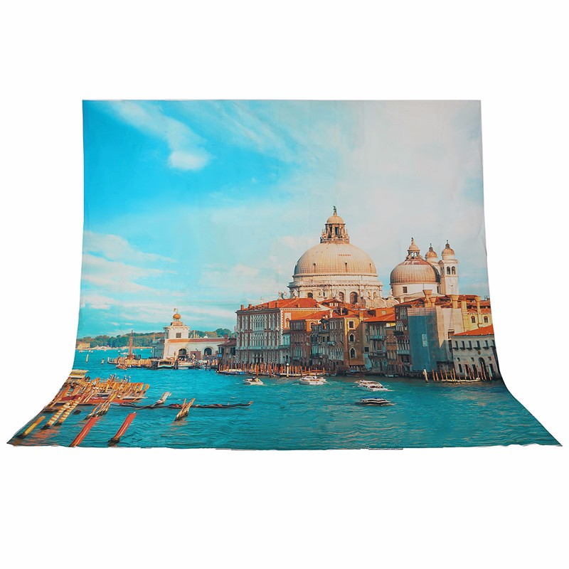 10x10FT Vinyl Photography Background For Studio Photo Props Venice City Castle Boats Custom Photographic Backdrops цены онлайн