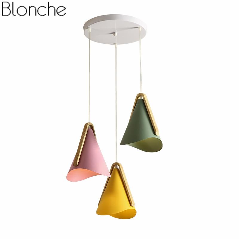 Nordic Modern Wood Pendant Lights Led Lamp Dining Room Bedroom Kitchen Hanging Light Fixtures Suspension Luminaire Home Decor