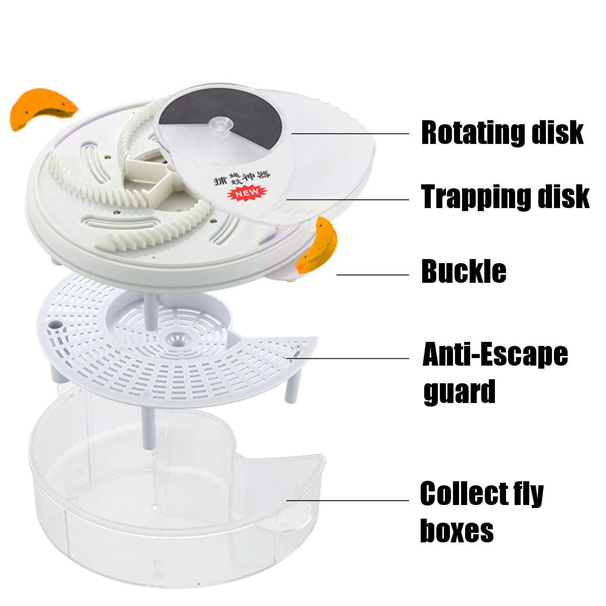 USB Automatic Electric Fly Traps Catcher UV Lamp Mosquitoes Bug Fly Zapper Home Garden Pest Control Accessories Flycatcher