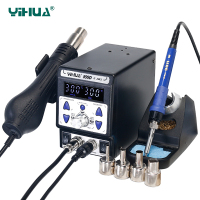YIHUA 899D II Soldering Station 720W 2 in 1 SMD Hot Air Rework Station 60W Solder Iron BGA Welding PCB Desoldering Tool Stations