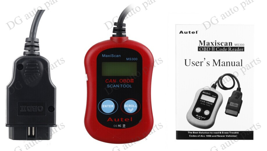 MS300 Car Fault Reader Code Sanner MS300 Universal Diagnostic Tools MS300 OBD2 Car Auto Engine Code Reader free shipping