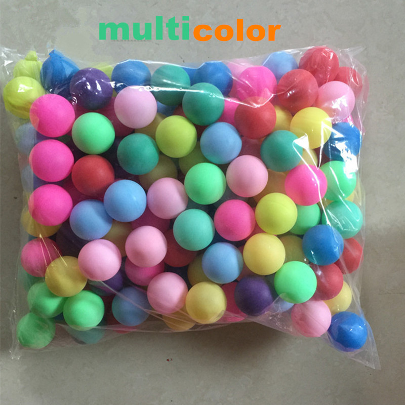 Купить с кэшбэком Diameter 4cm 150pcs/bag Colorful PP No Printing Word Thick Good Handness Child Game Balls Ping Pong Toy Decoration Balls Toy