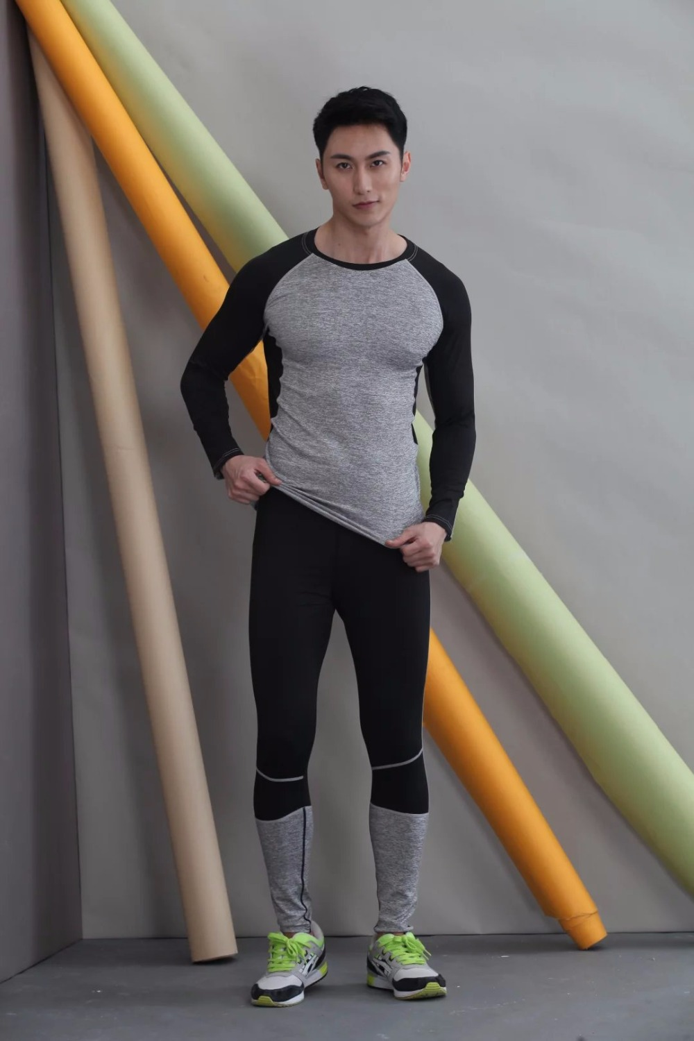 New thermal underwear men underwear sets compression sportswear Sweat fleece quick drying thermo underwear men clothing