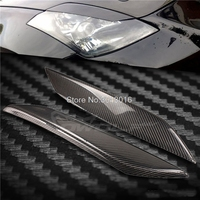 High Quality Real Carbon Fiber Decoration Headlights Eyebrows Eyelids Cover For Nissan 350Z Z33 Coupe 2003