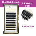 100% Real Fur Mink Individual Eyelash Extension 3 pcs/lot Mix 6 Length 8mm-13mm B C curl Free Shipping