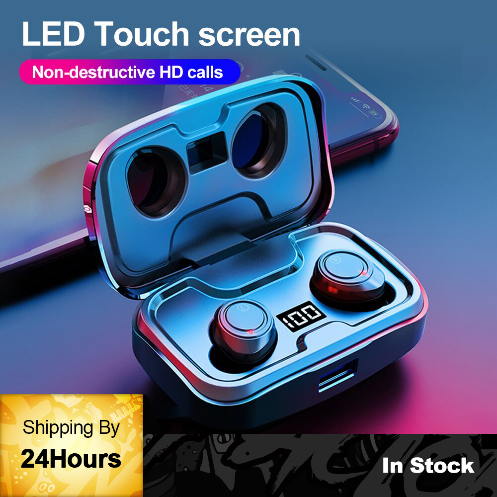 TWS X10 wireless earphones bluetooth IPX7 waterproof Volume control BT V5 0 Noise Reduction 3D stereo