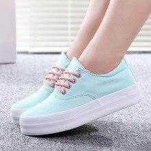 2016 new fashion ladies platform shoes women canvas shoes women casual shoes